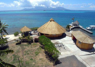 Topdive's center in Tahiti