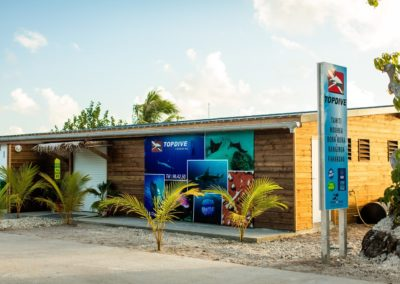 Topdive's dive center in Fakarava