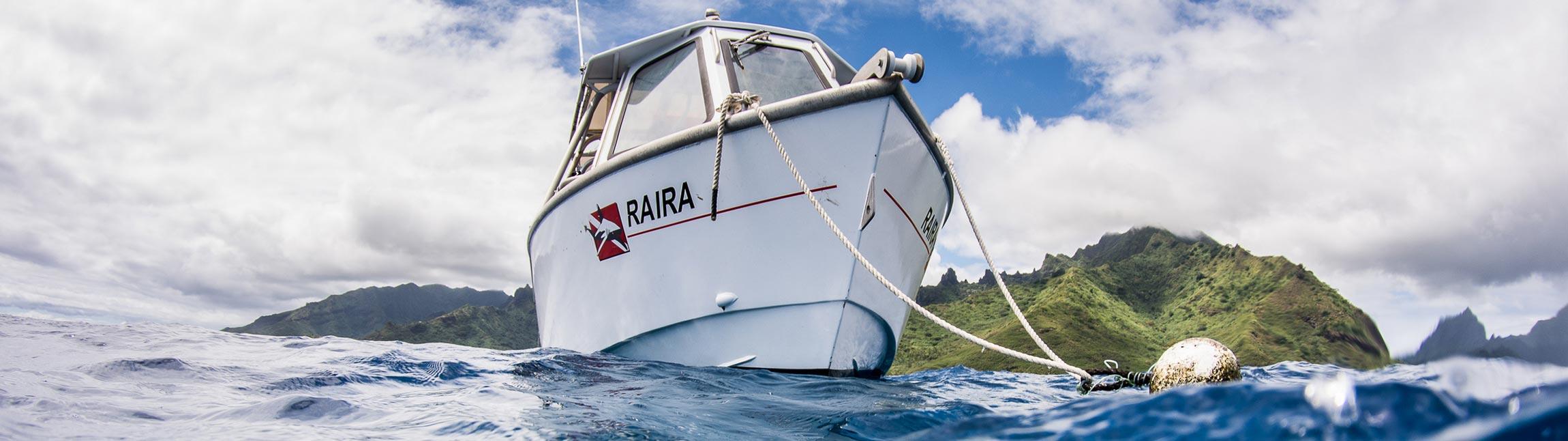 Raira boat - Topdive
