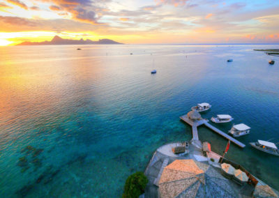 Sunset over Moorea - TOPDIVE Tahiti © Tahiti-Fly-Shoot