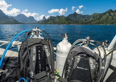 Nitrox scuba tanks in Moorea with Topdive