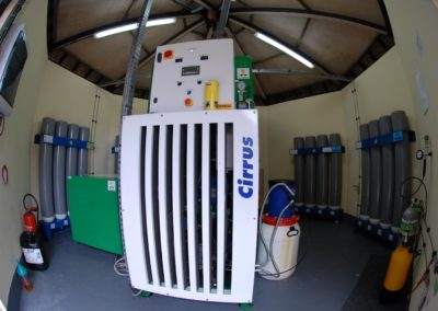 Technical room for scuba tanks - Topdive Polynesia