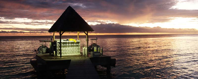 Sunset dive in the Tiputa pass, Rangiroa